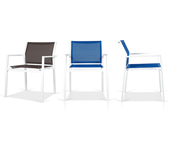 Allux dining stackable side chair by Mamagreen | Chairs