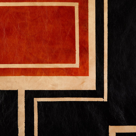 Umber and Black Bold Rug - Full Hide by AVO   Rugs