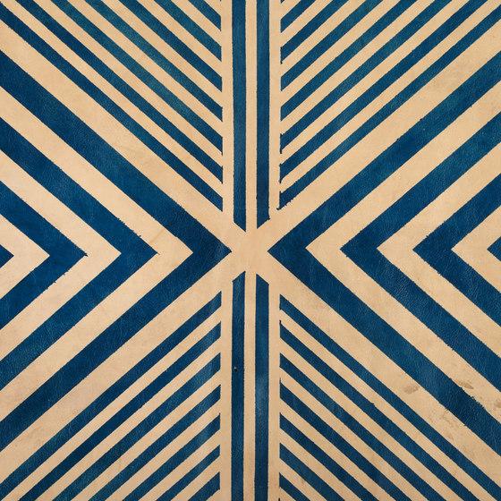 Blue Geometric Rug - Half Hide by AVO | Rugs