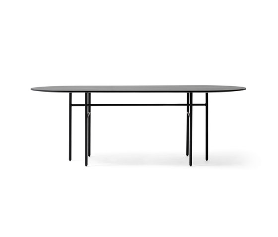 Snaregade Dining Table | Oval Black by MENU | Dining tables