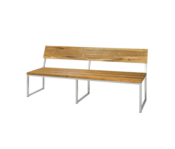 Oko bench 185 cm with backrest by Mamagreen | Benches
