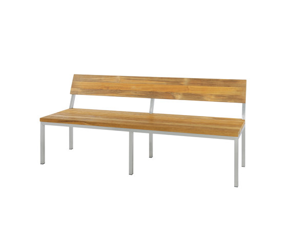 Oko bench 185 cm with backrest (post legs) by Mamagreen | Garden benches