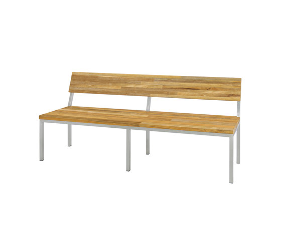 Oko bench 185 cm with backrest (post legs - random) by Mamagreen | Benches
