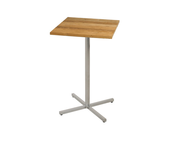 Oko bar table 60x60 cm (Base C - diagonal) by Mamagreen | Standing tables