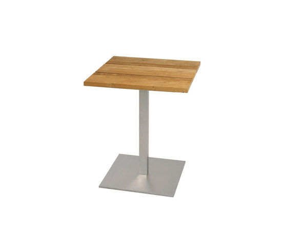 Oko dining table 60x60 cm (Base B - diagonal) by Mamagreen | Bistro tables