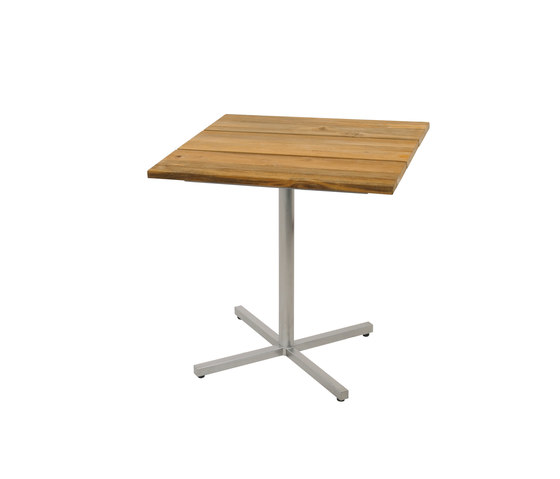 Oko dining table 75x75 cm (Base C - diagonal) by Mamagreen   Bistro tables