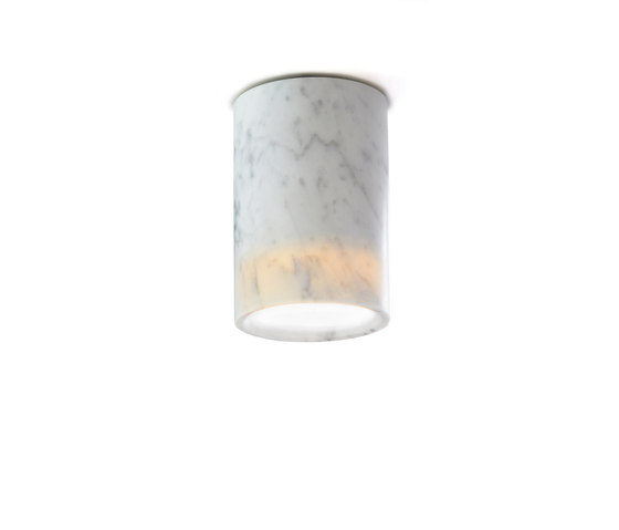 Solid | Downlight Cylinder in Carrara Marble by Terence Woodgate | Ceiling lights