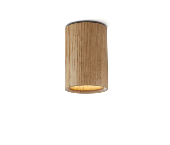 Solid | Downlight Cylinder in Natural Oak von Terence Woodgate | Deckenleuchten