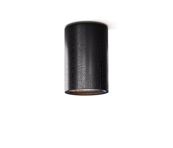 Solid | Downlight Cylinder in Black Stained Oak di Terence Woodgate | Lampade plafoniere