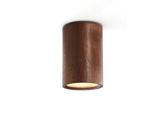 Solid | Downlight Cylinder in Walnut von Terence Woodgate | Deckenleuchten