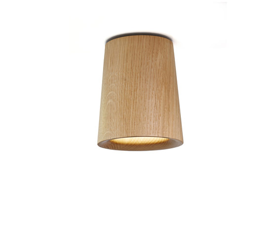 Solid | Downlight Cone in Natural Oak von Terence Woodgate | Deckenleuchten