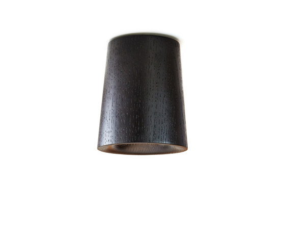 Solid | Downlight Cone in Black Stained Oak by Terence Woodgate | Ceiling lights