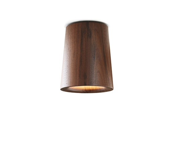 Solid | Downlight Cone in Walnut di Terence Woodgate | Lampade plafoniere