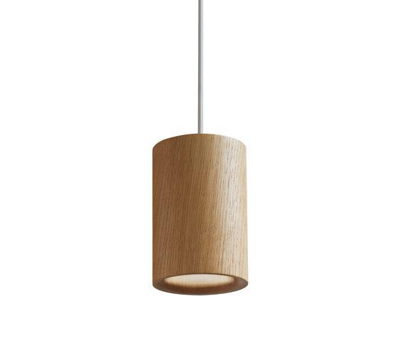 Solid | Pendant Cylinder in Natural Oak di Terence Woodgate | Lampade sospensione