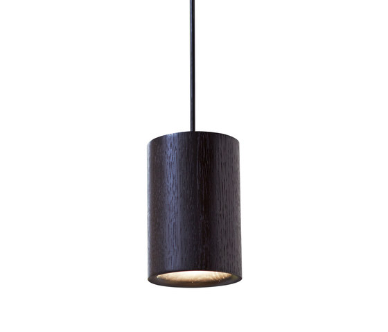 Solid | Pendant Cylinder in Black Stained Oak von Terence Woodgate | Allgemeinbeleuchtung