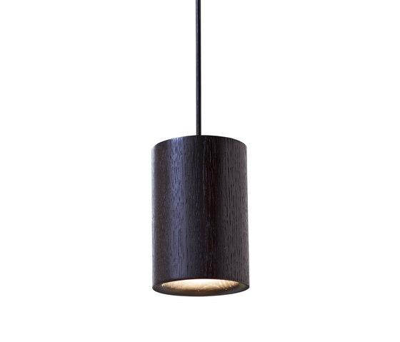 Solid | Pendant Cylinder in Black Stained Oak von Terence Woodgate | Pendelleuchten