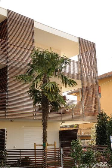 Brise soleil facade cladding from ravaioli legnami - Erco finestre ...
