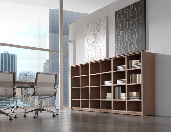 Concepto Free | Roble by Ofifran | Office shelving systems