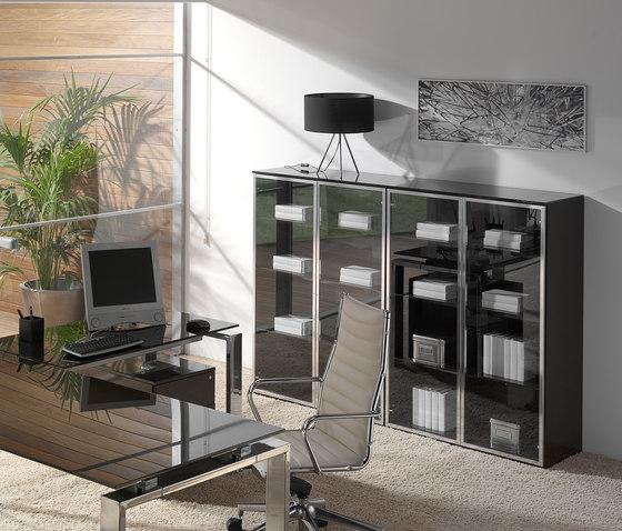Concepto Free | Cromo | Cristal Marron de Ofifran | Aparadores / cómodas