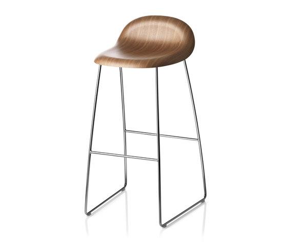 Gubi Stool – Sledge Base by GUBI | Bar stools