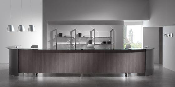 Concepto Free | Cromo | Teka Ceniza | Cristal de Ofifran | Mostradores de recepción