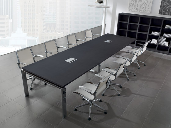 Concepto Free | Cromo | Negro by Ofifran | Multimedia conference tables