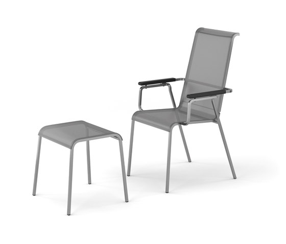 Modena armchair adjustable with footrest by Fischer Möbel | Armchairs