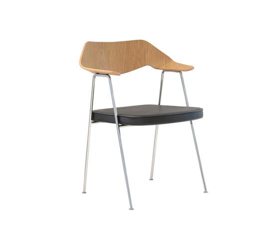 675 chair oak and chrome di Case Furniture | Sedie