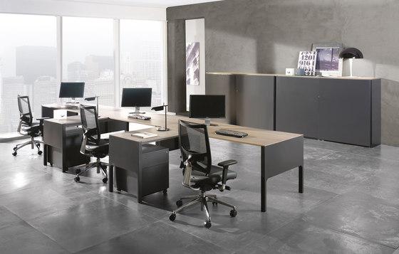 Lance mesa con ala auxiliar by Ofifran | Desks