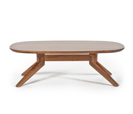 Cross oval coffee table di Case Furniture | Tavolini bassi