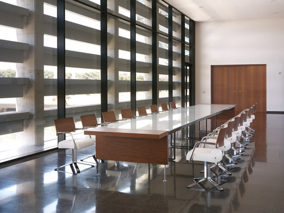 Prima Sinfonia juntas teka cristal blanco by Ofifran | Conference tables