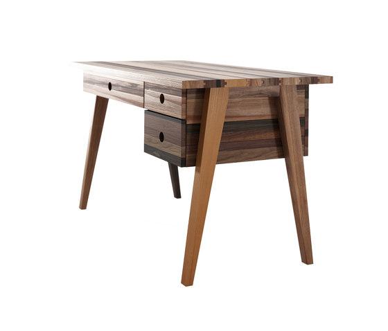 Brooklyn DESK TABLE 3 DRAWERS de Karpenter | Bureaux