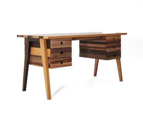 Brooklyn DESK TABLE 6 DRAWERS de Karpenter | Escritorios