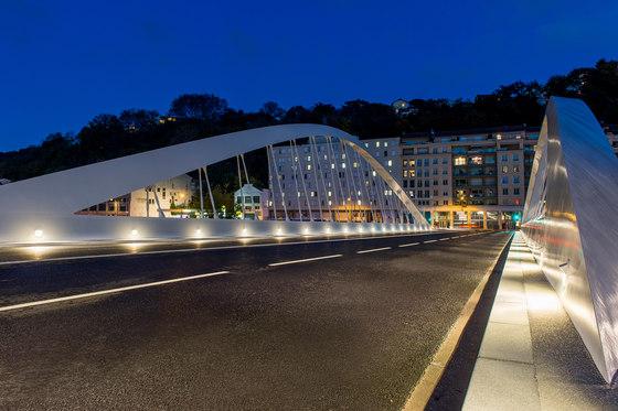 Pont Schuman, Lyon von ewo | Außen Wandeinbauleuchten