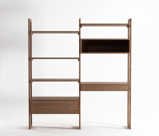 KWSU WALLSHELF UNIT - DOUBLE by Karpenter | Shelving