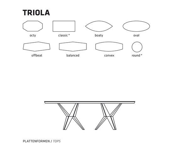 TRIOLA von Belfakto | Esstische