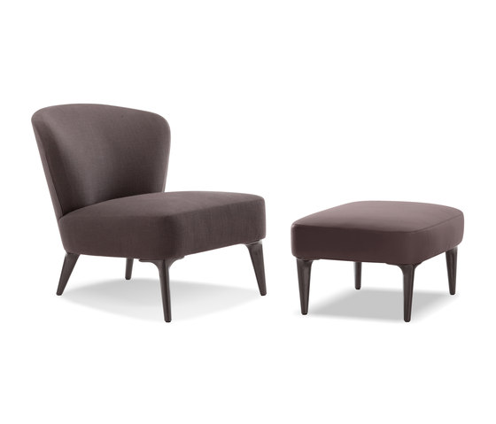 Aston armchair with footstool by Minotti   Armchairs