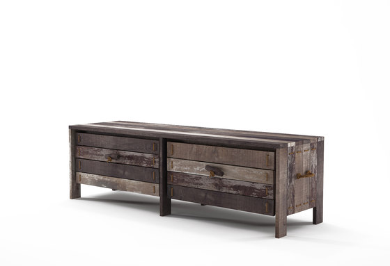 Rope Me ENTRY BENCH 2 DRAWERS by Karpenter | Sideboards