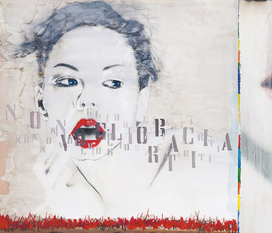 No Kiss by Inkiostro Bianco | Wall art / Murals