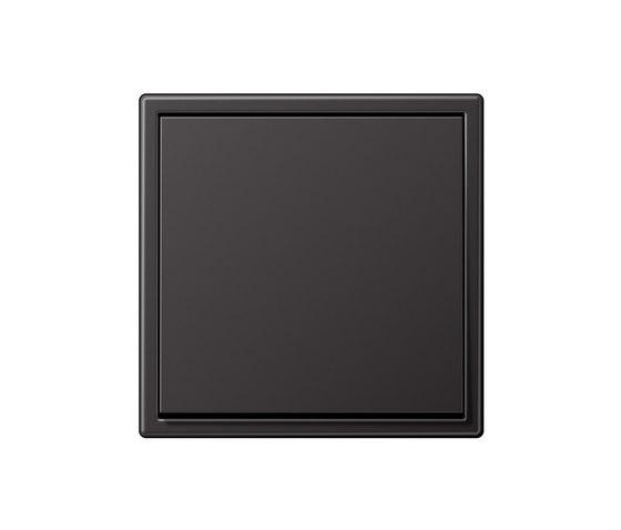 LS 990 Aluminium Dark Lichtschalter von JUNG | Wippschalter