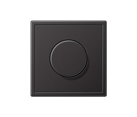 LS 990 Aluminium Dark Drehdimmer von JUNG | Drehdimmer