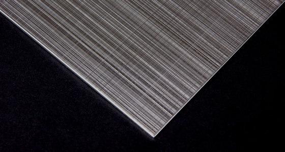 Hairline cross-decor | 500 by Inox Schleiftechnik | Sheets