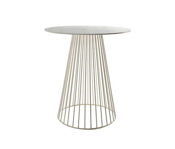 Antonino Bistrot Table Garbo65 Round White de Serax | Mesas comedor
