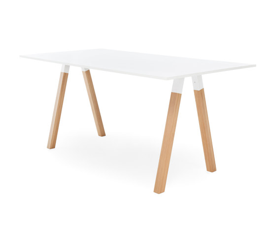 Frankie conference table high wooden A-leg 110cm de Martela | Mesas de reunión altas