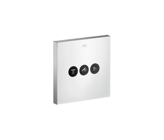 AXOR ShowerSelect Square valve for concealed installation for 3 outlets by AXOR | Shower controls