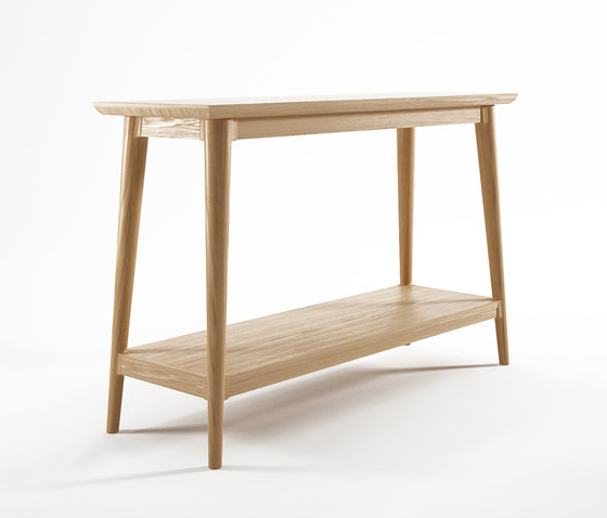 Vintage CONSOLE TABLE W/ SHELF by Karpenter | Console tables