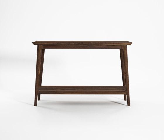 Vintage CONSOLE TABLE W/ SHELF von Karpenter | Konsoltische