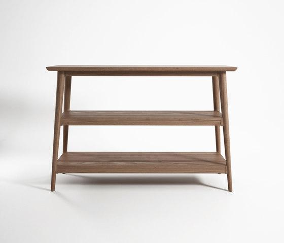 Vintage CONSOLE TABLE W/ 2 SHELVES von Karpenter   Konsoltische
