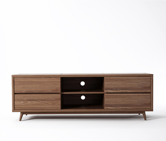 Vintage TV CHEST W/ 4 DRAWERS de Karpenter | Aparadores multimedia