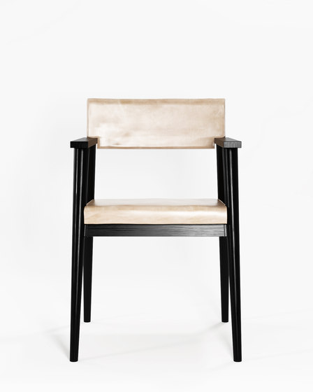 Vintage ARM CHAIR W/ LEATHER by Karpenter   Chairs